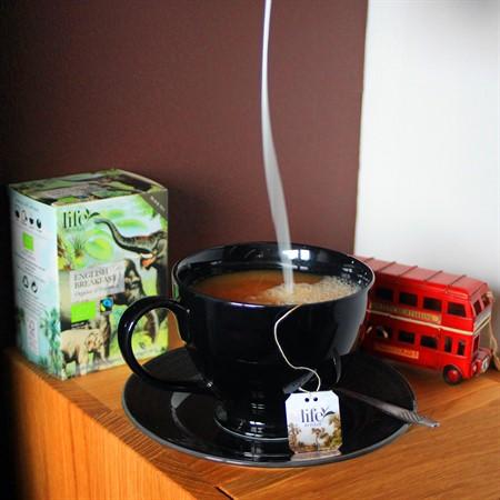 Mjölk hälls i kopp